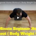 15-minute beginner's home workout (bodyweight only)
