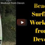 Beach surfing workout from Devon